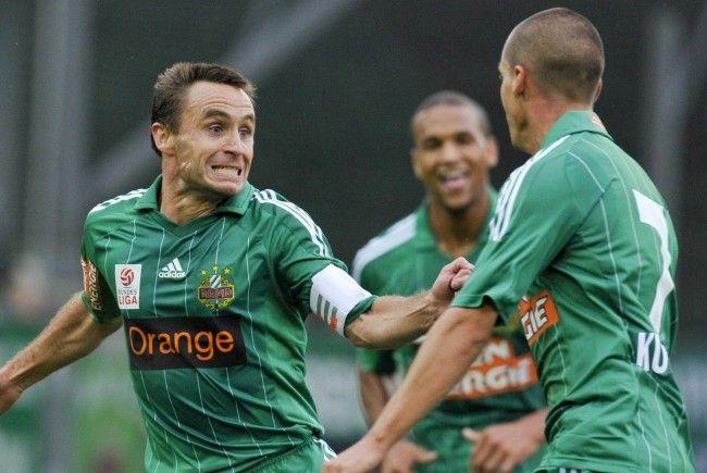 Steffen Hofmann will am Donnerstag mit Rapid über ein Weiterkommen in der Europa League jubeln.