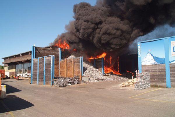 Verheerende Großbrände am Wochenende in der Schweiz - hier in Gossau.
