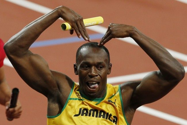 Usain Bolt, der Sprint-Star aus Jamaika, holte wie 2008 in Peking dreimal Gold.
