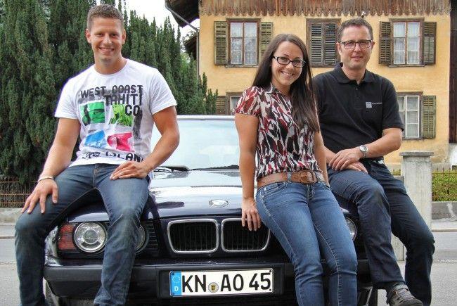Von links: Teamleader Florian Lunau, Angelika Layr und Helmut Schwendinger
