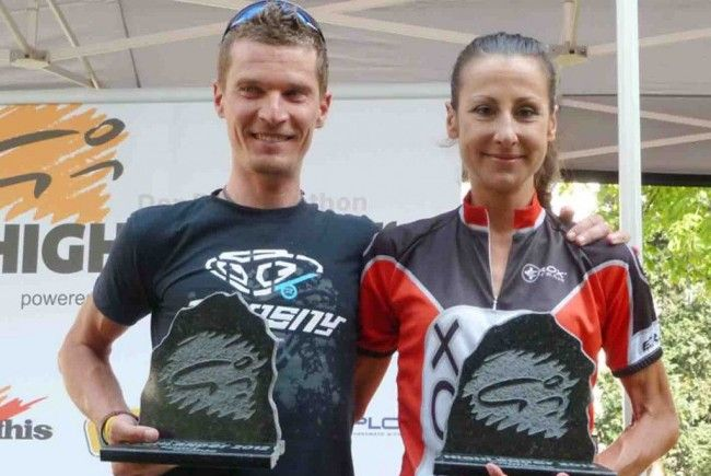 Die Sieger des Highglander 2012: Roberto Cunico und Marina Ilmer aus Italien.