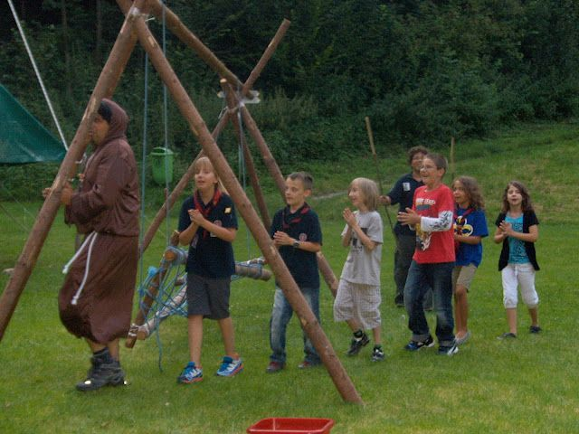 Bregenzer Pfadis beim Robin-Hood-Training
