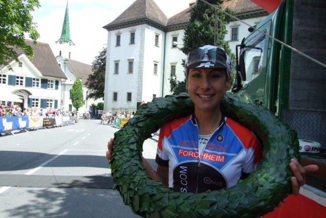 Die Italienerin Marina Ilmer gewann die Frauenkonkurrenz mit neuer Bestzeit.