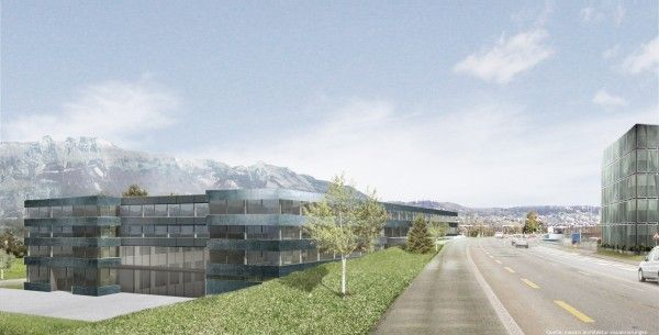 Im Plan: Innovations-Zentrum der Hilti AG in Schaan.
