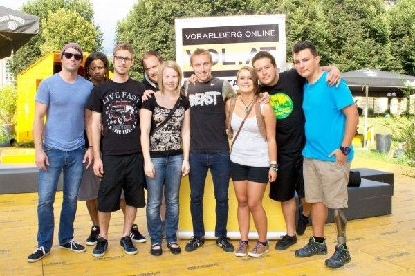 VOL.AT Meet and Greet-Gewinner treffen Yellowcard