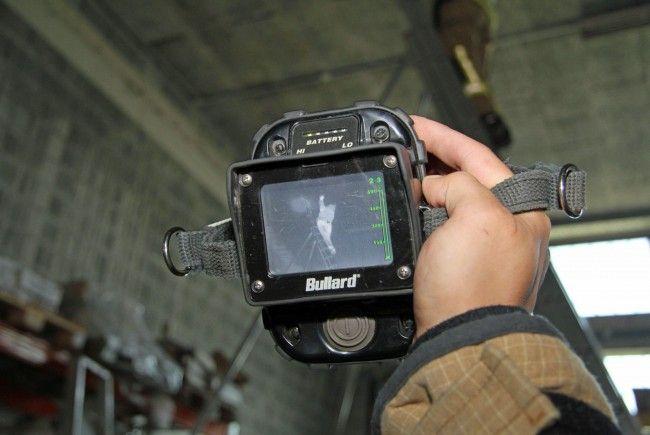 Mit der Wärmebildkamera wurde nach Glutnestern gesucht