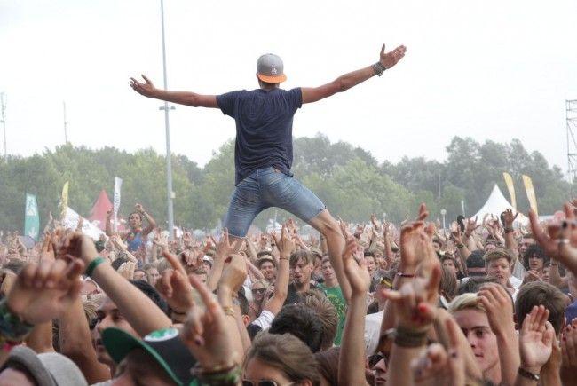 Ausgelassene Stimmung am Frequency Festival 2012