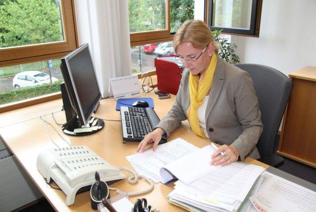 Susanna Troy von Wirtschaftskammer Vorarlberg bei der Arbeit