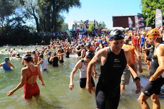 Der Jannersee Triathlon in Lauterach war wieder eine Megaveranstaltung mit den Siegen der Favoriten.