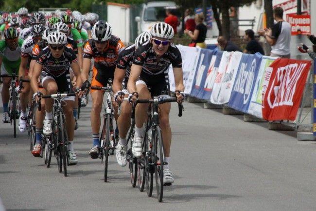 Starke Leistungen des Radteam Vorarlberg, aber es fehlte die Spitzenplatzierung.