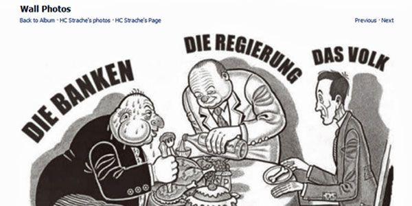 """Nichtjüdischer Banker samt Davidstern und """"Hakennase"""": Strache fühlt sich missverstanden."""