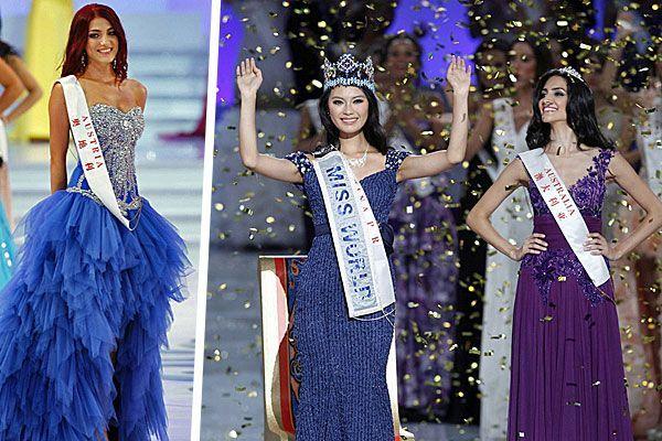 """Amina (Bild links) war leider nicht im Finale vertreten; die neue """"Miss World"""" freut sich über ihren Sieg (Bild rechts)"""