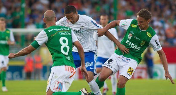 Austria Lustenau mit 2:2 gegen Grödig.