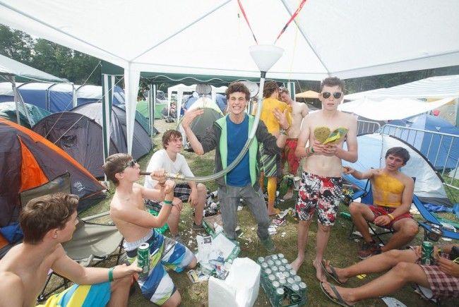 Die Rettugskräfte hatten einen ruhigen 1. Frequency-Festivaltag.