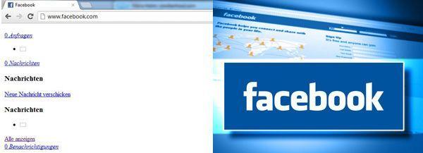 Facebook: User beschwerten sich am Montagvormittag über Login-Probleme und falsche Darstellungen.