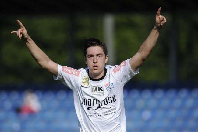 Der Bregenzer Timm Lingg schoss das 1:0 beim 3:1-Sensationssieg gegen Liefering.