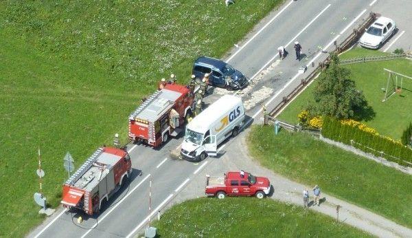Luftaufnahme vom Unfallort