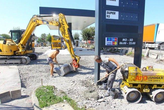 Bauarbeiten in Hard laufen auf Hochtouren