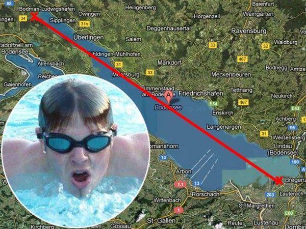 Maximilian Melyarki schwimmt für einen guten Zweck.