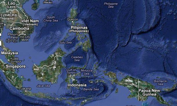 Erdbeben vor der Küste der Philippinen