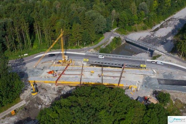 Großbau-Projekt in Röthis: Die neue Brücke über die Frutz