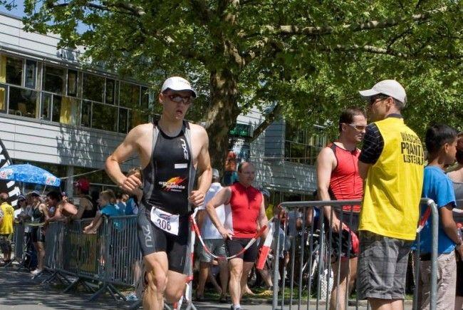 Triathlet Florian Geser aus Götzis wurde Siebenter bei den Europameisterschaften in Wiesbaden.