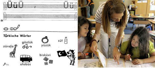 Schreibübungen mit türkischen Wörtern im Deutschunterricht