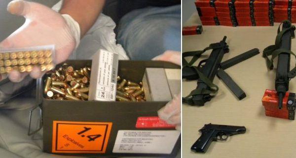 Mehr als 21.000 Schuss Munition und fünf Waffen wurden sichergestellt.
