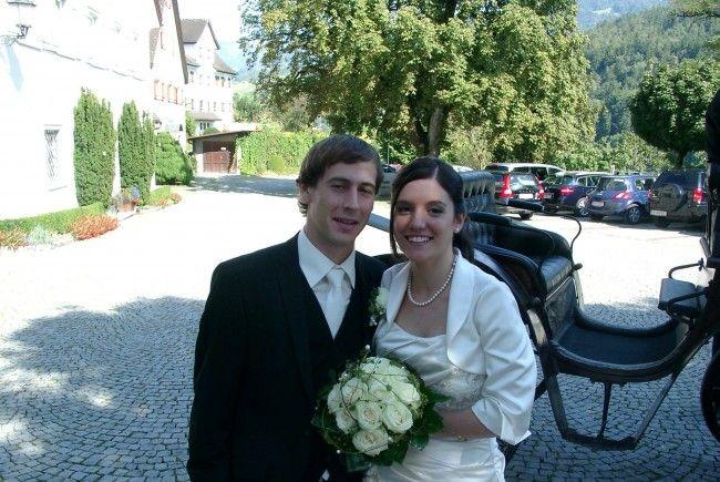 Simon Eiler hat Andrea Metzler vor den Traualtar in der Basilika geführt.