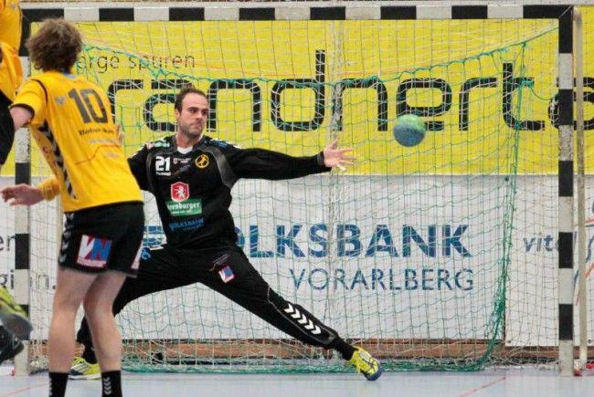 Bregenz Keeper Goran Aleksic durfte sich über einen weiteren Sieg freuen