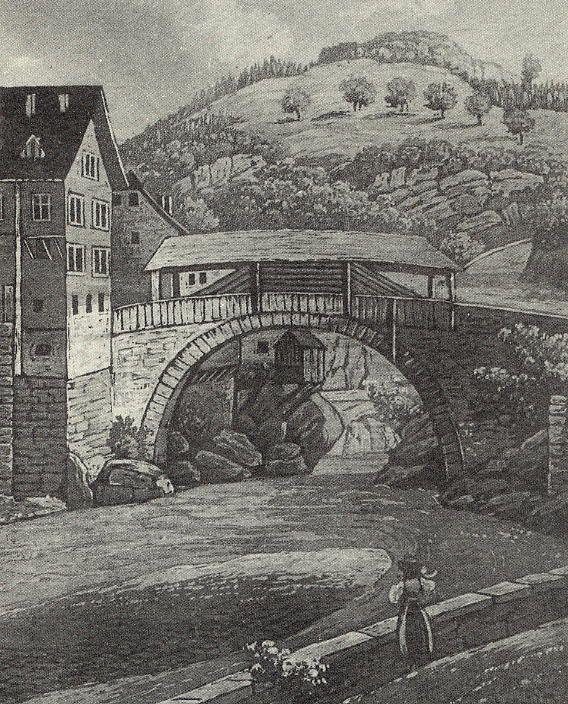 Die Heilig Kreuz Brücke wurde 1536-38 gebaut