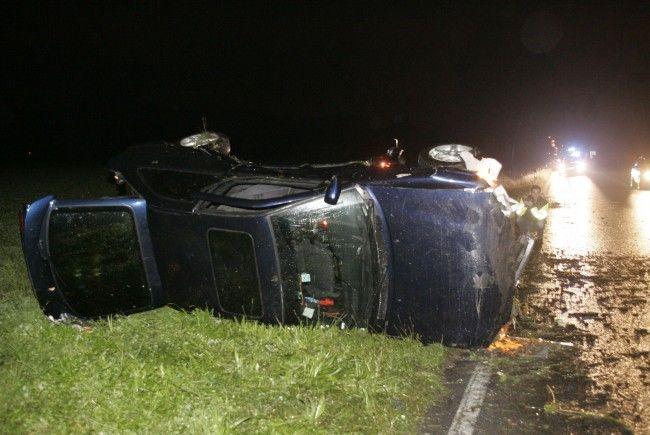 Unfall in Lustenau: zwei Verletzte.