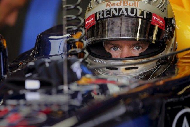 Sebastian Vettel in seinem RedBull-Boliden in Monza.