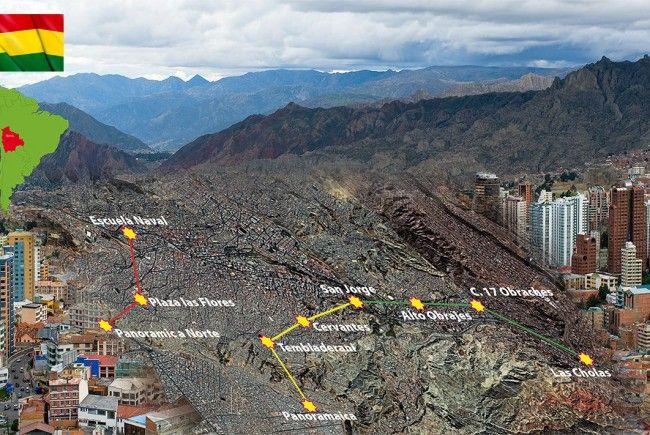 Die Doppelmayr / Graventa Group baut in Bolivien das weltweit größte urbane Seilbahnnetz.