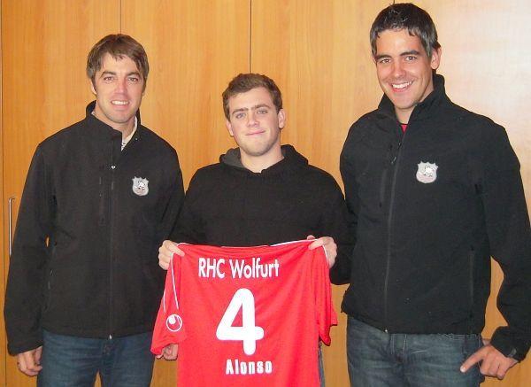 RHC Wolfurt Legionär Alonso gibt beim Derby in Dornbirn sein Debüt.
