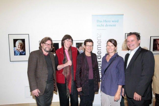 Michael Uhlmann, Petra Uhlmann, Landesrätin Greti Schmid, Daniela Egger, Norbert Schnetzer