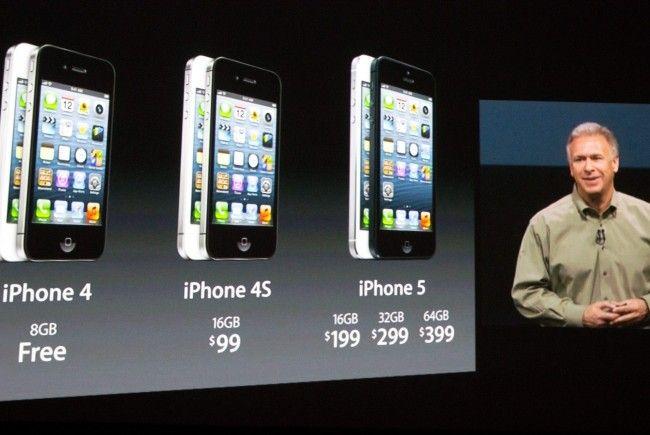 Die Preise für das iPhone 5 bleiben gleich wie beim Start des 4S.
