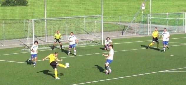 Hörburger setzte den Ball aus der Drehung in die lange Ecke.