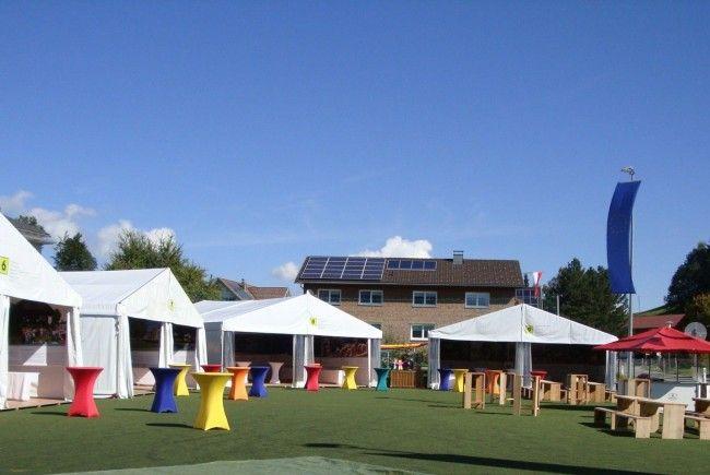 Ein Zeltdorf mit vielen Attraktionen erwartet die Gäste in Langenegg