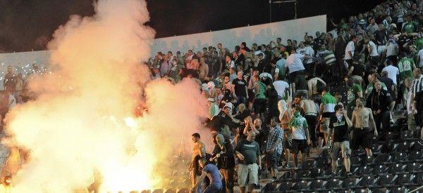 Gegen PAOK Saloniki kam es zu schweren Ausschreitungen. Rapid Wien wurde mit einem Geisterspiel bestraft.