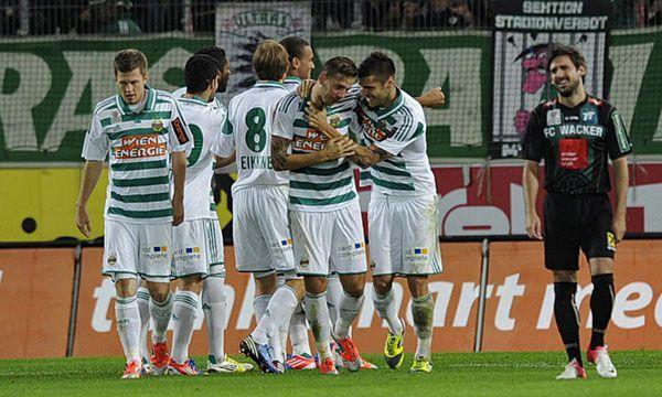 Freude bei Rapid: Sieg gegen Wacker Innsbruck am Samstag.