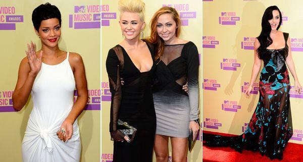 Großes Schaulaufen der Stars bei den MTV Video Music Awards 2012.