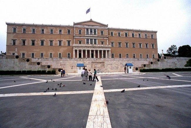 Das griechische Parlament in Athen.