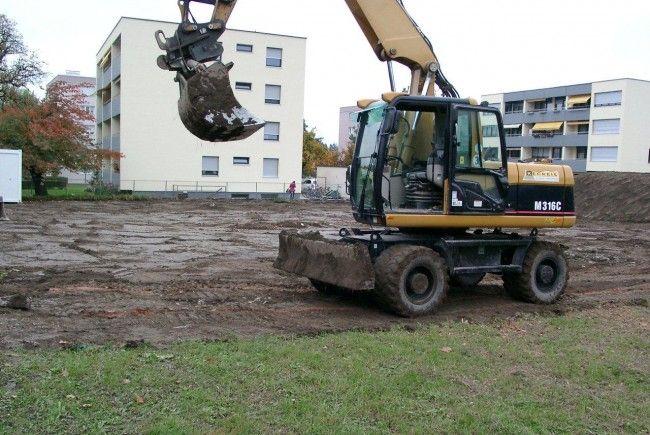 Die Bauarbeiten bei der Wohnanlage Bifang haben heue begonnen.