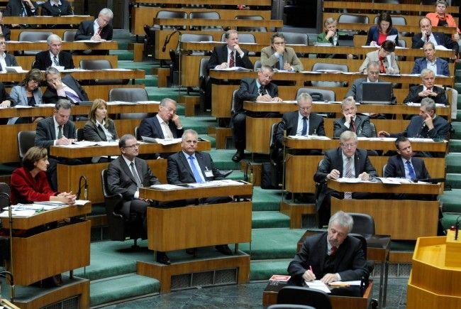 Landtagspräsidentin Bernadette Mennel bei der Enquete des Bundesrates im Parlament.