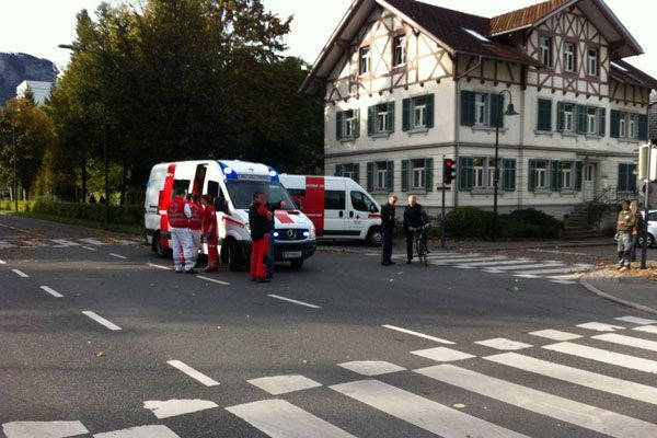 80-Jährige bei Unfall in Dornbirn schwer verletzt.