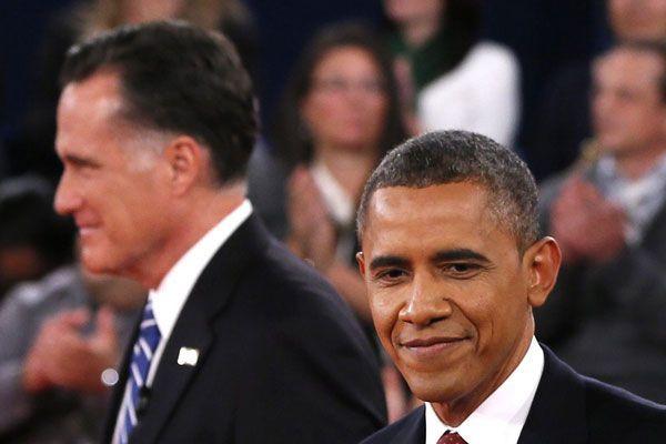US-Präsident Barack Obama und sein Herausforderer Mitt Romney.