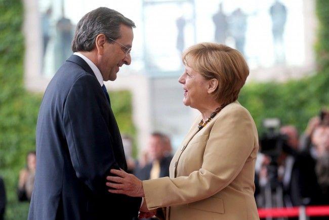 Die deutsche Bundeskanzlerin Angela Merkel und Griechenlands Regierungschef Antonis Samaras.