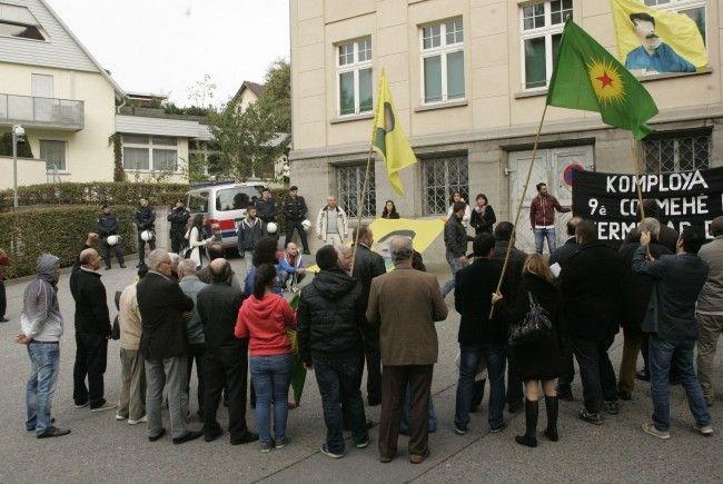 Die Polizei begleitete die Demonstration