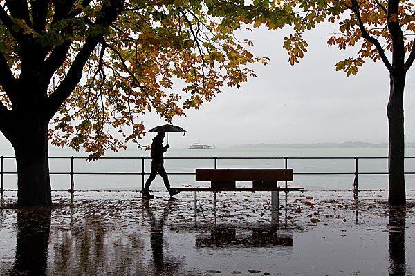 Kurze Regenpasue am Donnerstag, ab Freitag wird es wieder trüb.